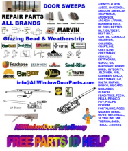 Fast Free Window and Door Parts ID Help - Watch the Short Video .. and see how simple it is.
